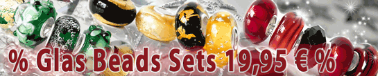 Glas Beads im Set mit jeweils 5 Glas Beads