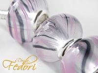 Wet Look Bead pink Flow, 925 Sterling Silber