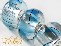 Wet Look Bead blue Flow, 925 Sterling Silber