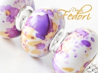 Aquarell Look Bead Cherish lilac, 925 Sterling Silber