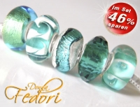 Glasbeads-Set Angebot 106 - Petrol