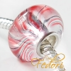 Wet Look Bead red Flow, 925 Sterling Silber