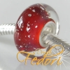 Style Bead Dazzling cherry Silver