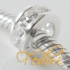 Style Bead, Spacer Glitzerrondell 925 Sterling Silber, Zirkonia