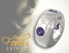 Privato Spacer Purple 925 Sterling Silber